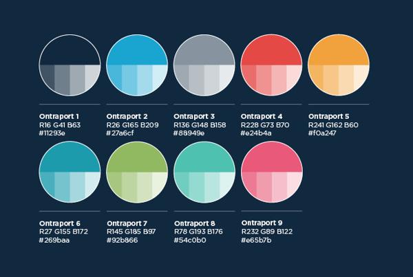 ONTRAPORT on Behance #colour #branding #palette