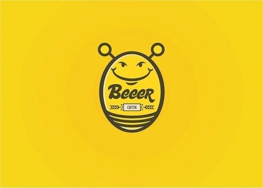 Beeer beer #beer #bee #comic #brand #logo #fun