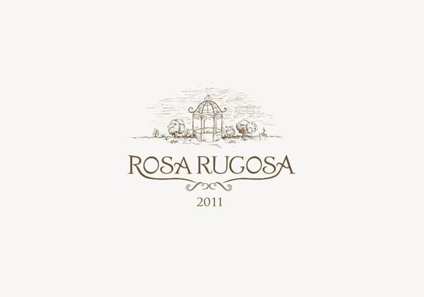 Rosa rugosa #mark #logotype #branding #bratus #wine #sketch