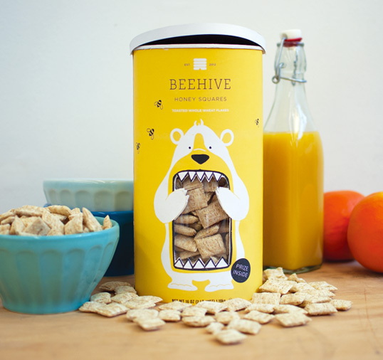 lovely package lacy kuhn 1 #packaging #industrial design #yellow #bear #food #cereal