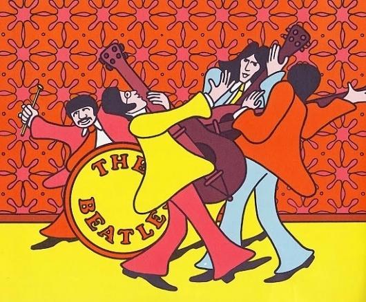 Vintage Kids' Books My Kid Loves: We Love You Beatles #illustration #books #retro #drawing