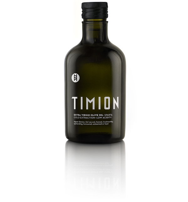 TIMION extra virgin olive oil from Lakonia | mousegraphics #greek #bottle #packaging #olive #oil
