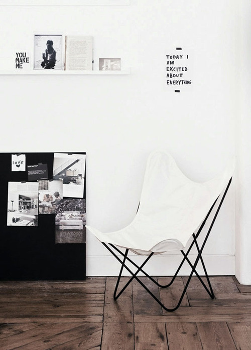 CJWHO ™ #white #chair #design #hipster #interiors #typography