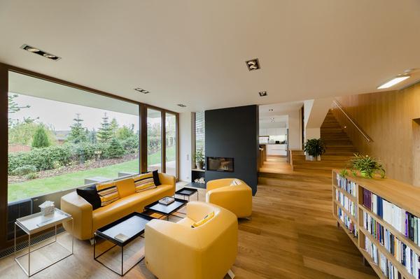 sloped semi cantilever house by grido architektura #architektura #grido