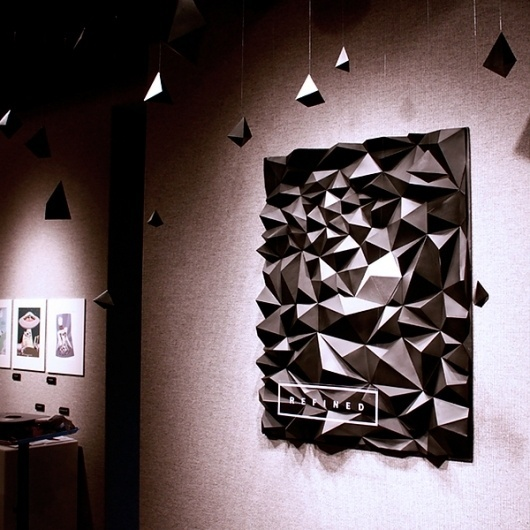 REFINED Exhibition on the Behance Network #design #graphic #poster #three #dimensional