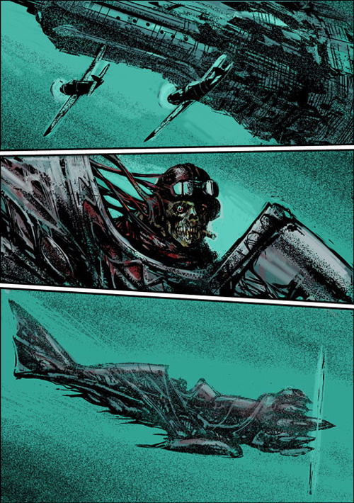 #illustration #airplane #skull # combat #death #comic