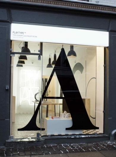 advertlab at Computerlove - Typography Concept Store #shop #store #vinyl #signage #playtype #typography