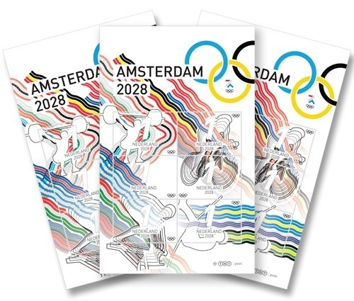 The 2028 Olympics Identity on the Behance Network #olympic #stamps #design #graphic #illustration #identity #sport #basketball