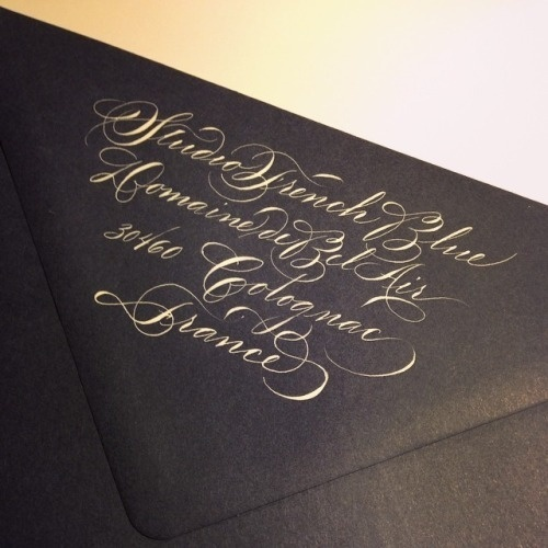 Typeverything.com Calligraphy by frenchbluejoy. #calligraphy #sript