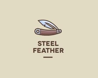 Steel Feather by kubbiz #logo