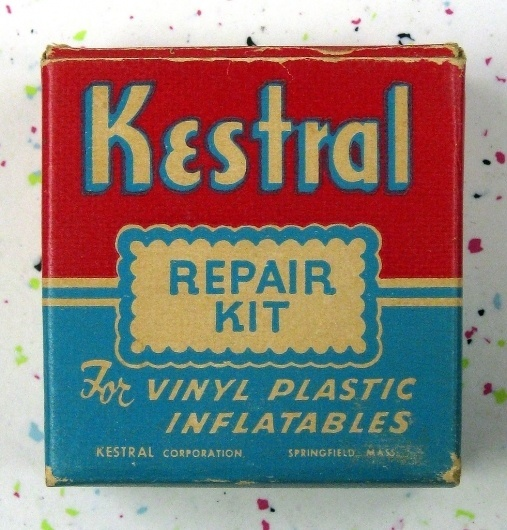 All sizes | Vintage repair kit package 1950s? | Flickr - Photo Sharing! #packaging #blue #red #vintage
