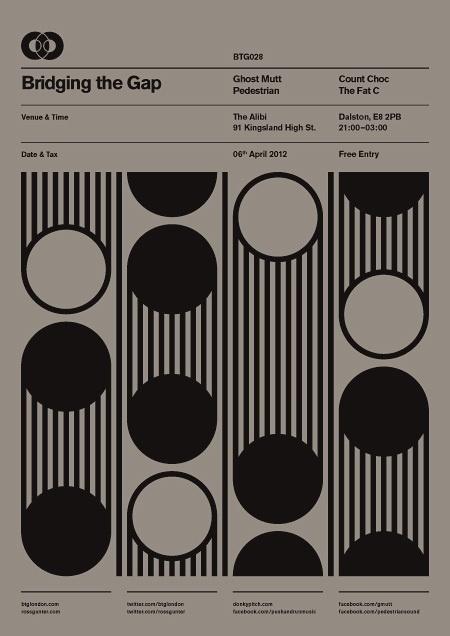 BTG Poster Series on the Behance Network #design #btg #poster #rossgunter #bridgingthegap #minimalist #typography