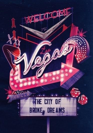 Welcome To Las Vegas – Ilovedust – Illustrators & Artists Agents – Début Art #vegas #poster
