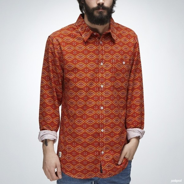 """Skjorta """"Ruggy Flannel"""" Brick #fashion"""