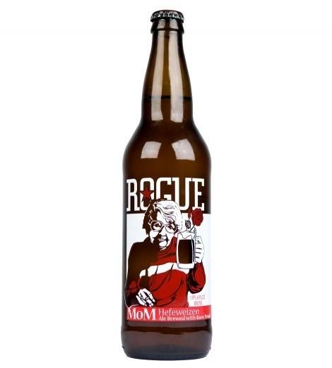 Rogue Mom Hefeweizen Bottle #packaging #beer #label #bottle