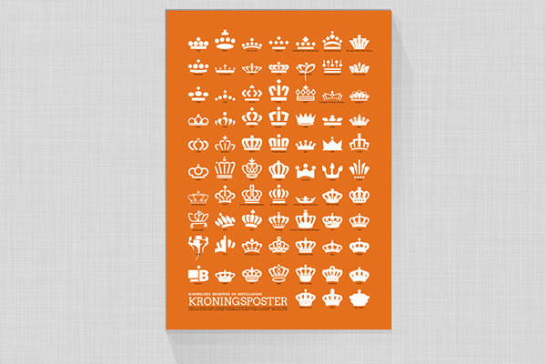 Dutch crown poster, netherland #crown #netherland #design #poster #dutch