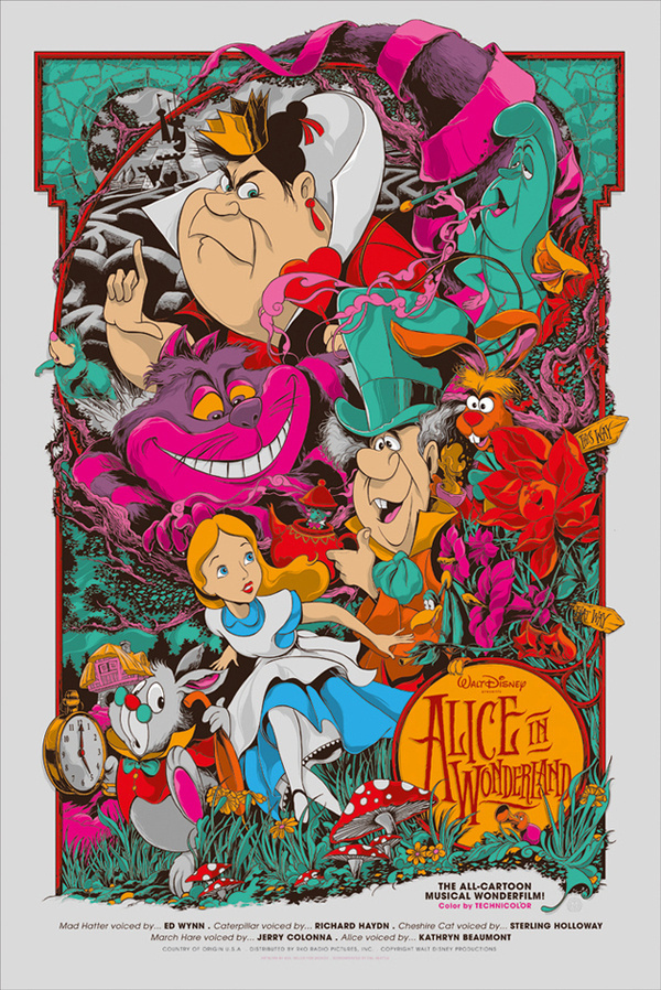 Reinvented Disney posters by Mondo-Alice in Wonderland #illustration #poster