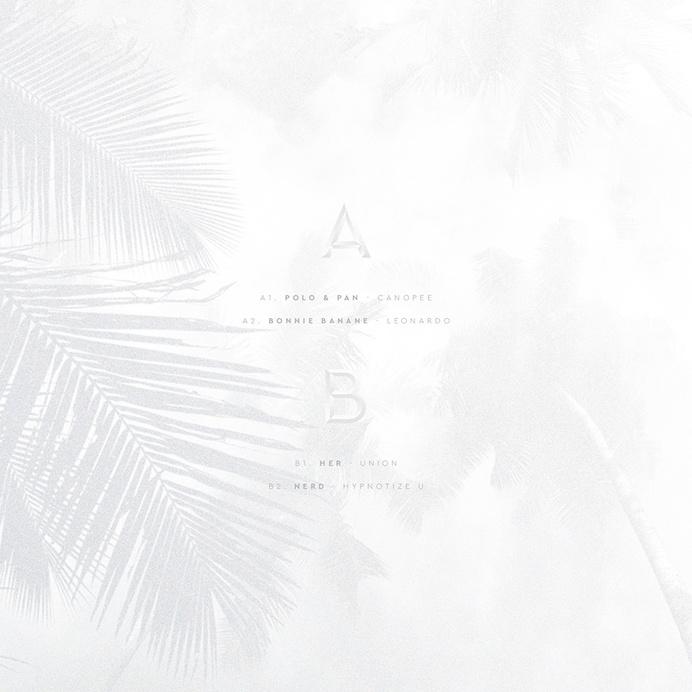 #vinyl #texture #coconuts #typography