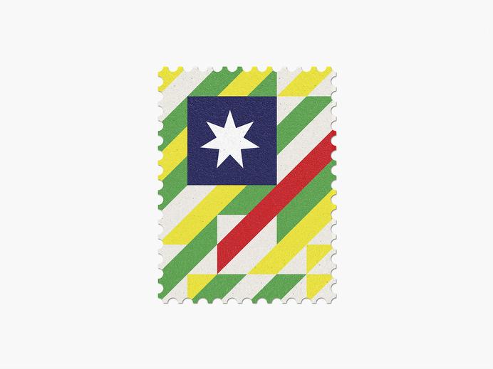 Australia #stamp #graphic #maan #geometric #illustration #minimal #2014 #worldcup #brazil