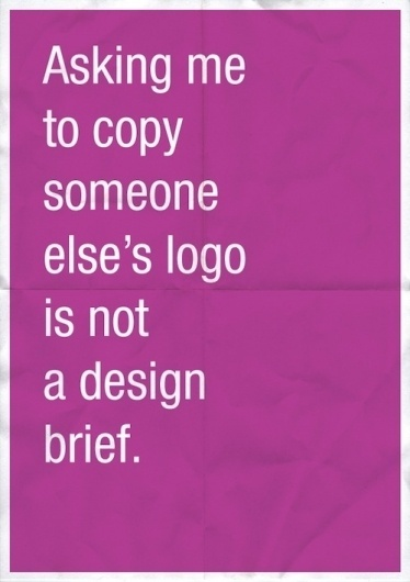 'Confessions Of A Designer', What Goes On In A Designer's Mind - DesignTAXI.com #quote #type #poster