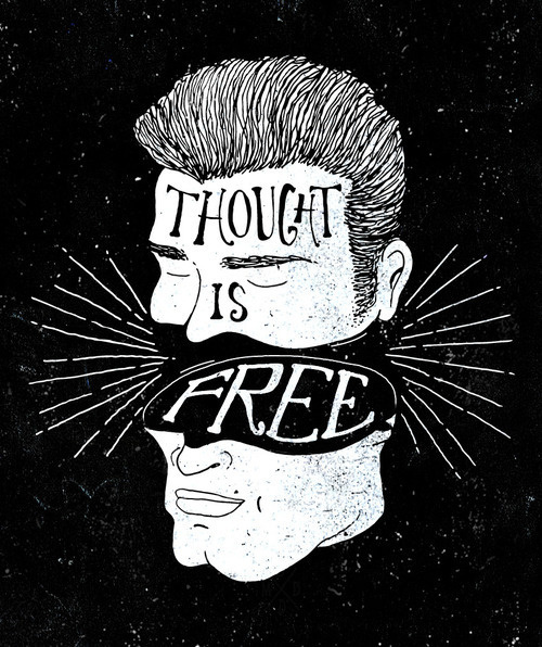 Thought is free by BMD Design #lettering #design #thinking #illustration #typography