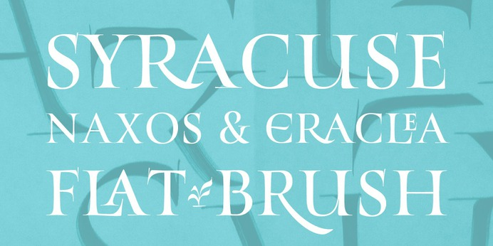https://www.myfonts.com/fonts/resistenza/turquoise/ Many calligraphers agree that Roman Capitals is one of the most beautiful yet difficult hands to master. Its beauty lies in its simplicity of form and structure, yet understanding and applying these skillfully can take years of mindful practice. My goal was to design Roman Capitals that were smoothly designed with a brush, not carved. The main concept was based on the fundamental strokes that are commonly studied when you practice Roman letters. That's why many Serifs have these unfinished terminal serifs. I created the Turquoise typeface based on my Capitalis Romana practice with a flexible broad edged brush and gouache. During the lowercase process I was still following Foundational calligraphy with a flat brush. My Turquoise Capitals were then adjusted and redesigned at the Tipobrda calligraphy workshop in Slovenia. Turquoise contains small caps, many discretionary ligatures, ornaments, swashes as well as several brushy nature-inspired ornaments, accessible via OpenType. Ideally suited for headlines or body text in advertising, packaging and visual identities, its delicate shapes, curves and endings give projects a harmonious elegance and stylistic feel in unique Turquoise style. My inspiration for this font showcase is one of the richest islands in the Mediterranean, the place where my parents are from, Sicily. This southern Italian region has so many unique spots: Stromboli, part of the Aeolian Islands, and the Pelagie Islands is one of my favorite places in Sicily. The pictures I used were taken there this year. So enjoy the sun, the serifs, the water and its Turquoise colors. The brush is mightier than the sword.