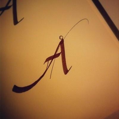 sketching Ã… #lvsc #calligraphy