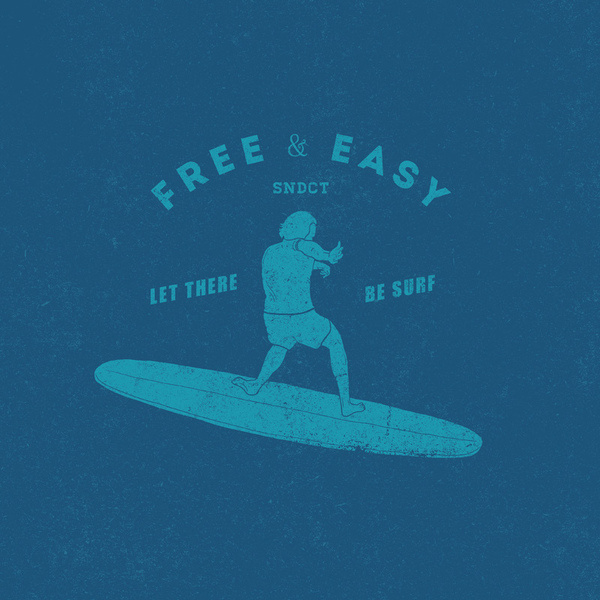 Free & Easy #sndct #surf #orka #illustration #abo #typography