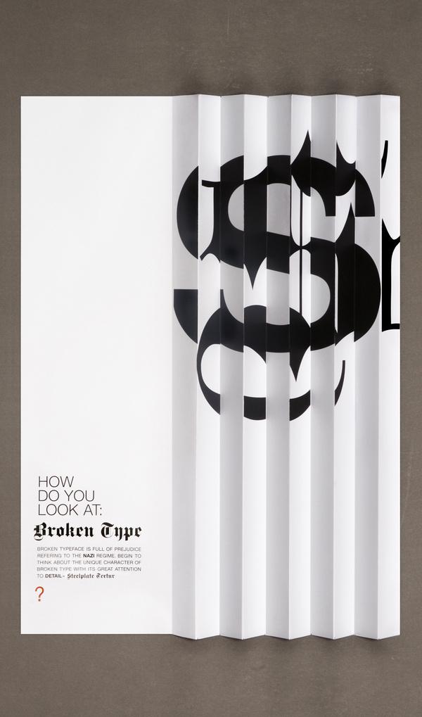 Broken type on Behance #typography