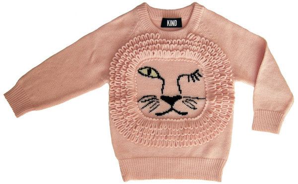 KIND — 'Leo' unisex kids sweater #leo #pink #lion #child #sweater #fashion #kids