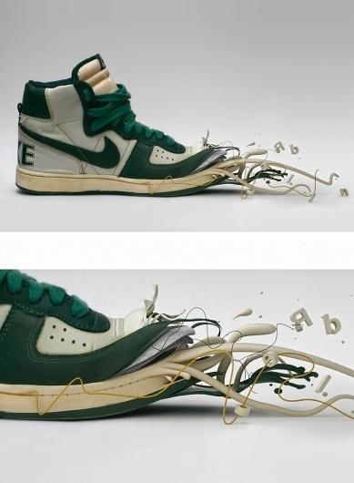 Icon-Shoes - 3d Graphics - Creattica #illustration #trainers