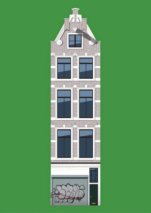 amsterdam #illustration #building #amsterdam