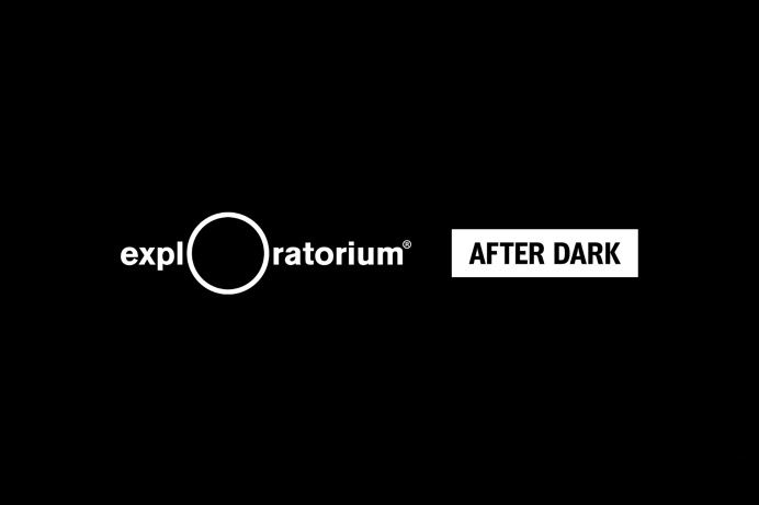 Visual identity by Collins for Exploratorium's After Dark, a weekly adults-only museum experience of perception