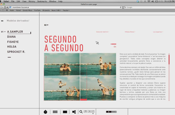 Lomo LC A Website on Behance #layout #photography #web #design
