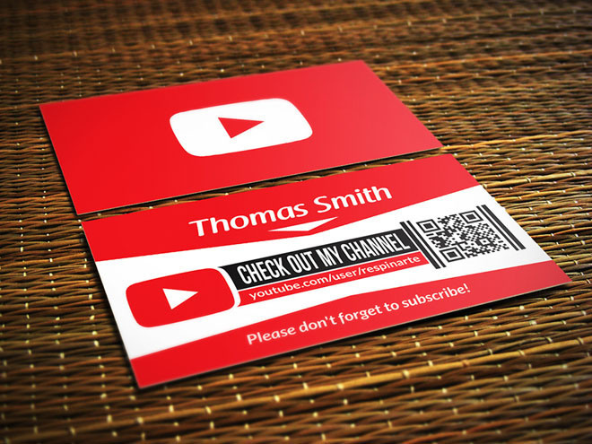 Best freebies free youtube business card images on designspiration free youtube business card psd template reheart Choice Image