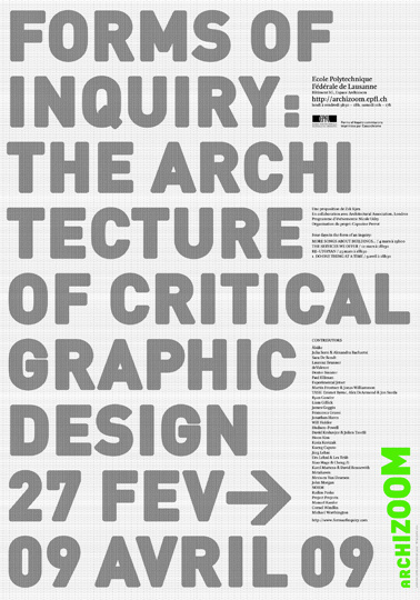 manystuff.org – Graphic Design, Art, Publishing, Curating… » Blog Archive » Forms of Inquiry – Lausanne #print #architecture