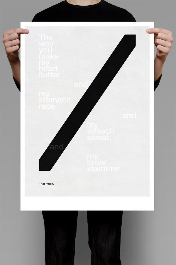 Love Cuts #white #design #graphic #minimalism #black #poster #typography