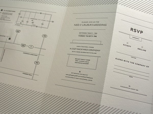 Ned_ #letterpress #invitation #typography