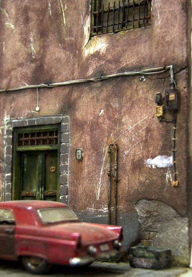 Highly Realistic Miniature Street-6 #miniature #house #art #street