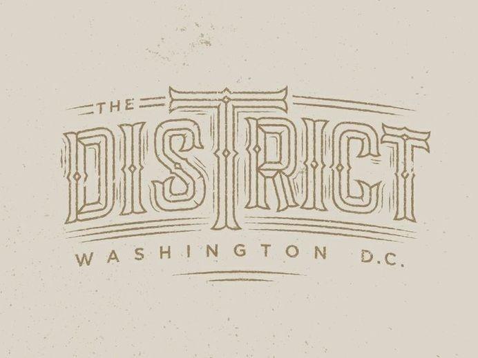 The District by Drew Ellis #lettering