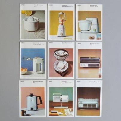 Braun product pamphlet set 7-16