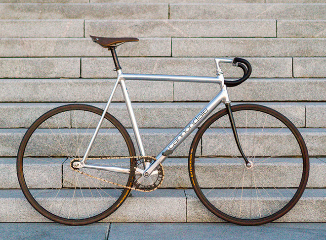 SilverCannondaleSunset #bicycle #track #bike