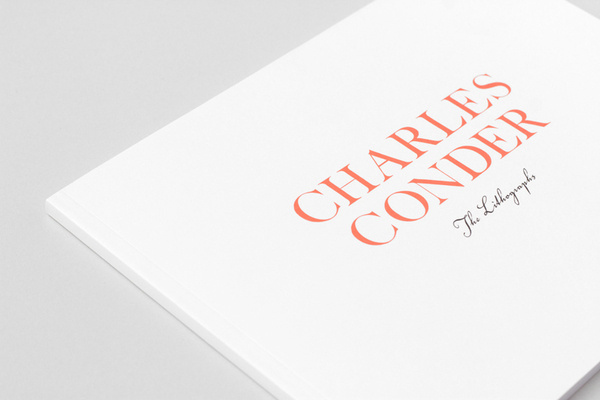 Charles Conder on Editorial Design Served #serif #print #red