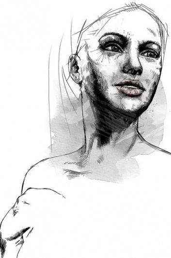 sketch2   Flickr - Photo Sharing! #ink #girl #pen #watercolor #sketch