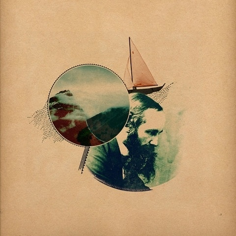 FFFFOUND! | the things that live in my head | Flickr - Photo Sharing! #photo #head #vintage #boat #circle #collage #waves