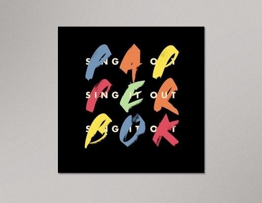 Portfolio of Luke Robertson | Papperbok – Sing It Out #luke #design #graphic #robertson #poster #typography