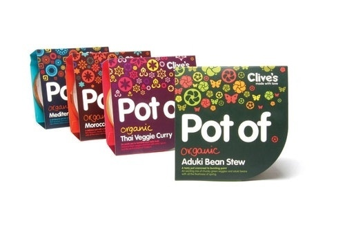 Pot Of - TheDieline.com - Package Design Blog #pattern #packaging #in #design #bold #black #food #believe #clives #typography