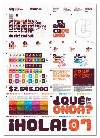 Mike Abbink _ __El Banco Deuno Color Test, 2008. #branding #guide #guidelines #corporate #style