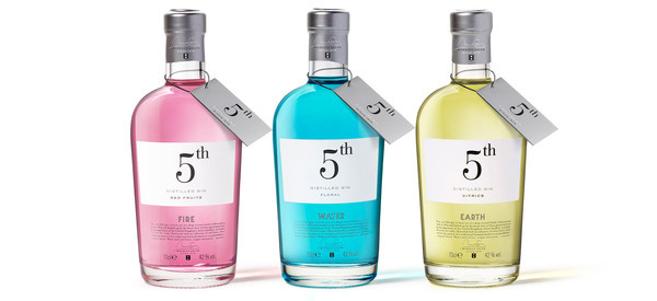 New 5th Gin | Puigdemont Roca – Design Agency #packaging