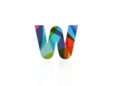 W #colourful #logo #brand #identiry